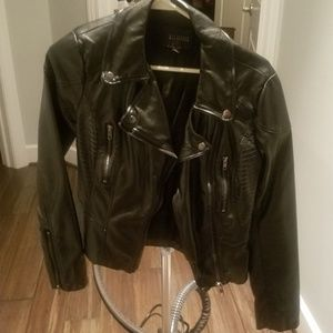 Blu Pepper Black Faux Leather Jacket - Small